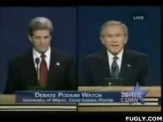 WHAT A FUCKIN DOUCHE ......LIKE FATHER LIKE SON .....George Bush Bloopers