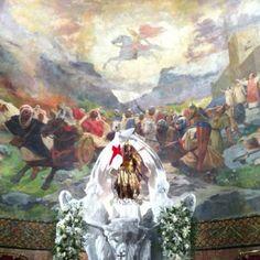 Mural de la Iglesia de San Jorge y el Xicotet Saint George, Saints, Painting, Art, Art Background, Painting Art, Kunst, Paintings, Performing Arts