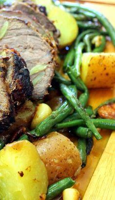 Garlic, Potatoes and Green Beans Warm Potato Salad - Feeding Larry Pt ...