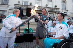 The Paralympic Torch arrives in Hackney 2012