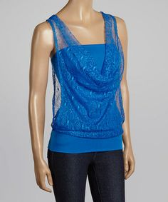 Love this Blue Lace Tank by Jonathan K Apparel on #zulily! #zulilyfinds