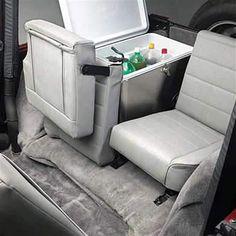 All Things Jeep - Split Fold & Tumble Rear Seat for 1976-2006 Jeep CJ-5, CJ-7-CJ-8 Scrambler & Wrangler YJ, TJ, LJ (Drilling required for TJ/LJ)
