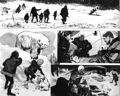 Doug Wildey storyboard layout and concept sheet