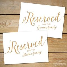 reserved signs for chairs template upholstered with arms 11 best images wedding chair printable table etsy