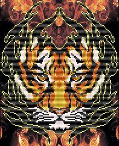 Bead Loom Patterns, Beading Patterns, Cross Stitch Patterns, Diy Friendship Bracelets Tutorial, Pixel Art Grid, Seed Bead Projects, Peler Beads, Cross Stitch Animals, Beaded Animals