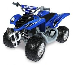 Kids' Bicycles - Yamaha Raptor ATV 12Volt BatteryPowered RideOn Blue ** You can find out more details at the link of the image.