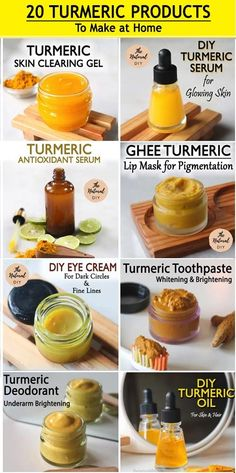 Turmeric Facial, Turmeric Oil, Diy Natural Beauty Recipes, Homemade Beauty Products, Natural Beauty Remedies, Homemade Skin Care, Diy Skin Care, Natural Skin Care, Natural Skin Products