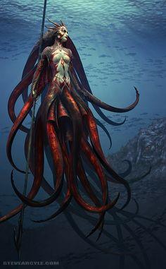 """Steve Argyle. Example image: """"Lord of the Kraken."""" Websites: http://steveargyle.deviantart.com/ http://www.steveargyle.com/"""