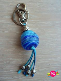 Porte-clefs Murano key ring Beautiful glass bead to ornate your bag and keys.