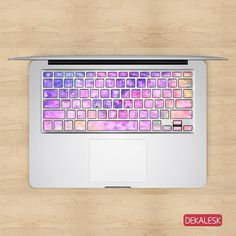 Features - These MacBook keyboard stickers is available for MacBook Air & MacBook Pro/Retina & & MacBook - Available for US, UK, German, French, Italian & Japanese MacBook k Macbook Keyboard Stickers, Laptop Case Macbook, Macbook Decal, Keyboard Cover, Macbook Air, Keyboard Piano, Apple Laptop, Cool Technology, Cute Cases