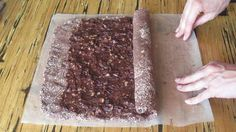 Raw Food Chocolate Walnut Roulade Cake Recipe