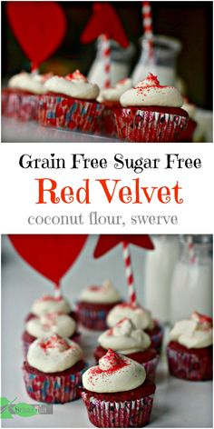 How to Make Low Carb Grain Free Sugar Free Red Velvet Cupcakes from Spinach TIger