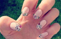Elegant Embellished Nail Art