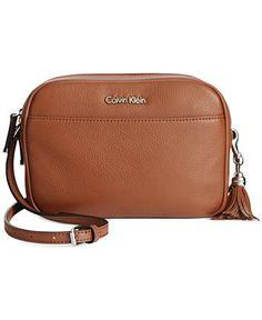 d3c77b8b923b Calvin Klein Classic Pebble Crossbody   Reviews - Handbags   Accessories -  Macy s