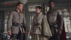 """Once Upon A Time 5x04  King Arthur Takes Sword from Snowing """"The Broken ..."""