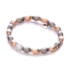Rose & Ruthenium Plated with Crystal Bead Bracelet - HEXYO London Jewellery Gifts For Women Swarovski Stones, Crystal Beads, Crystals, Bangles, Beaded Bracelets, Bridal Jewellery, Gifts For Women, Jewelry Gifts, Plating