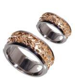 Hawaiian Alii Lei Ring Wedding Sets Gold