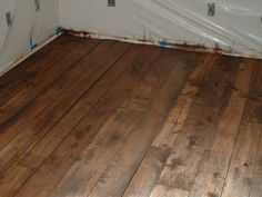 Stained Plywood Flooring | Reclaimed barn wood - pictures - Flooring Forum - GardenWeb