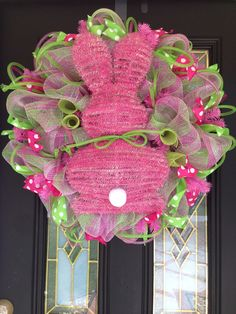 Easter bunny deco mesh wreaths Wreaths by Ileana https://www.facebook.com/pages/Wreaths-by-Ile