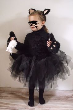 Diy tuto costume chat noir fille halloween tuto costume chat noir halloween pinterest - Deguisement chat fille ...