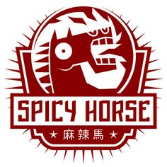 The Spicy Horse Games company logo. Designed by Ken Wong.