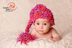 CLEARANCE SALE Baby Girl Hat Gorgeous Baby Stocking Hat   by PamKR, $17.99