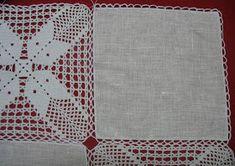 Mantel Lino y Grannys Crochet Table Runner Pattern, Crochet Tablecloth, Crochet Diagram, Crochet Motif, Crochet Jacket, Master Class, Bohemian Rug, Quilts, Blanket