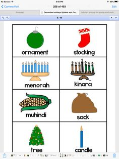 Holidays around the world matching game.
