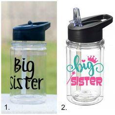 Big sister gift ideas: water bottles