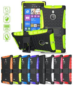 NOKIA LUMIA 1520 CASE, TPU PRIME DUAL LAYER COVER WITH KICKSTAND (NEON GREEN) | #cellphonegadgets #mobileaccessories www.kuteckusa.com