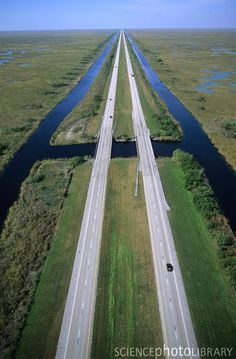 Alligator Alley FL - A section of I75 from Naples on the west coast of Florida to Weston on the east coast.  First opened in 1969, most of the highway traverses the Everglades.