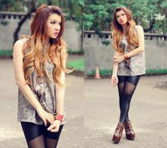 clothes for hipsters | ombre hair for the hipster:) | Shoes, Hair and Clothes