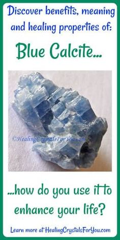 Blue Calcite amplifies your energy & helps to relieve pain Clears writers block, boosts psychic visions & intuition Enhances telepathic ability aids creativity. Crystals Minerals, Crystals And Gemstones, Stones And Crystals, Gem Stones, Healing Crystals For You, Crystal Healing Stones, Blue Calcite, Calcite Crystal, Crystal Magic