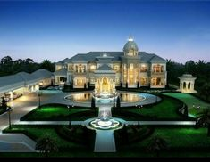 Mansion Homes, Dream Mansion, Mansion Interior, Style At Home, Mansion Designs, Luxury Homes Dream Houses, Dream Homes, Modern Mansion, House Ideas