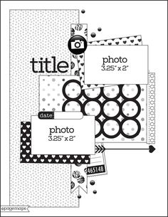 Howdy friends! Back for day 5 of our team up with Page Maps! Today we have two 8.5x11 layouts from design team member Suzanna Lee. Her first layout was based on the following sketch - And here's Suzanna's layout based on the sketch, using our Say Cheese II collection -