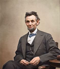 Abraham Lincoln photo - colorized  original photo was taken on April 10, 1865