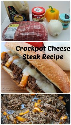 Crockpot Cheese Steak Recipe