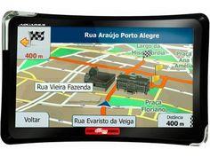 """GPS Automotivo Quatro Rodas Aquarius Tela 7"""" - Touch Screen com TV Digital e Câmera de Ré com as melhores condições você encontra no Magazine Linhatotal. Confira!"""