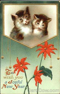 To Wish You A Joyful New Year Cats