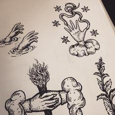 """""""Helping hands. #sketchbook #poisonappleprintshop"""""""