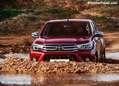 Toyota HiLux 2016 poster, #poster, #mousepad, #tshirt