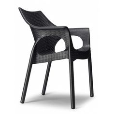 Plastová židle OLINA V TREND Antracit Outdoor Chairs, Outdoor Furniture, Outdoor Decor, Bar Restaurant, Modern Design, Patio, Home Decor, Armchairs, Garden