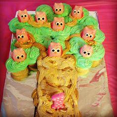 Owl pops on cake