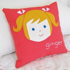 Personalized pillows - cute!