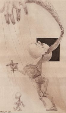 Anti-marionette of Freud