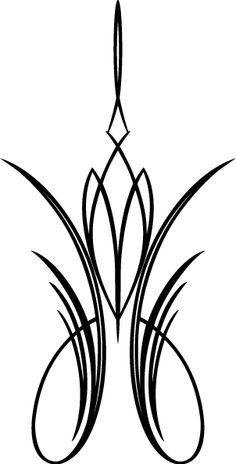 stock vector pinstripe design tattoos pinterest pinstriping rh pinterest com Car Clip Art Calligraphy Clip Art