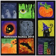 I couldn't resist doing another inchie project for this Halloween.      Don't let the list of materials scare you off.  Jus...