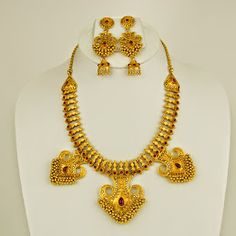 """Season of celebration is around! Gift your beloved this """"Yellow metal set"""",crafted beautifully for the special occasions of life! #celebrate #love  celebrate  #life  ! For more visit: http://on.fb.me/1vlcKlE"""