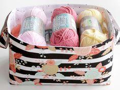 Tutorial: 30 minute fabric basket