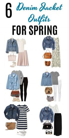 Whether it's for casual Fridays or a day out running errands these six denim jacket outfits for spring are perfect for the occasions. A denim jacket is such a versatile piece of clothing as you'll see from these super cute outfits. Classy Outfits, Casual Outfits, Cute Outfits, Modest Outfits, Skirt Outfits, Work Outfits, Cute Fashion, Fashion Outfits, Petite Fashion